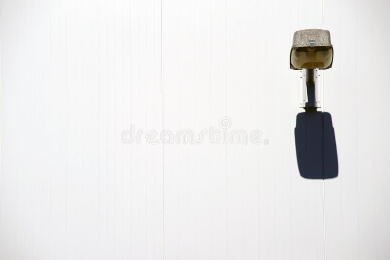 墙壁光塑象阴影 库存图片