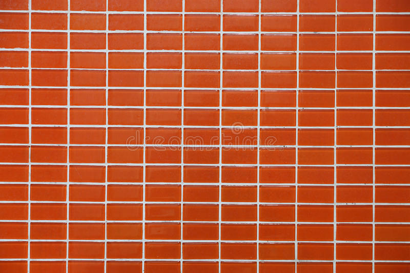墙壁和地板锦砖桔子颜色 库存照片