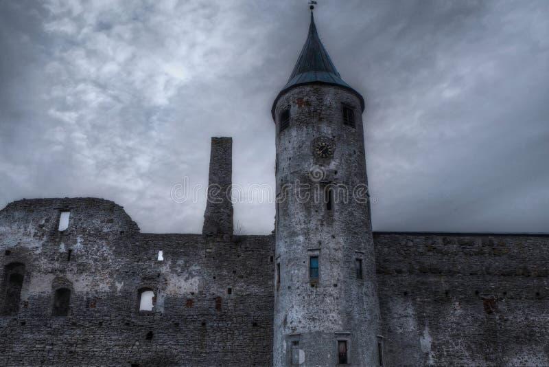 墙壁和塔 库存图片