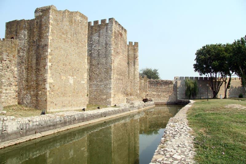 墙壁和水 免版税库存照片