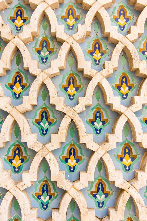 墙壁在卡萨布兰卡,摩洛哥 免版税库存照片