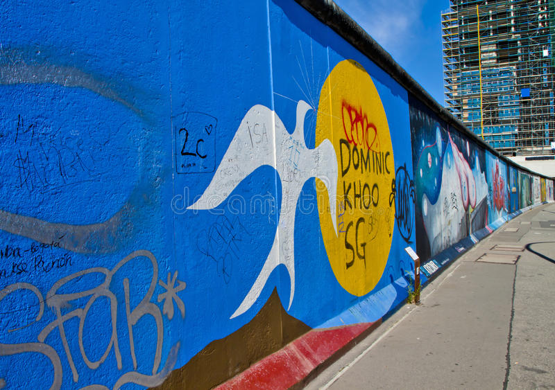墙壁在柏林 免版税库存图片