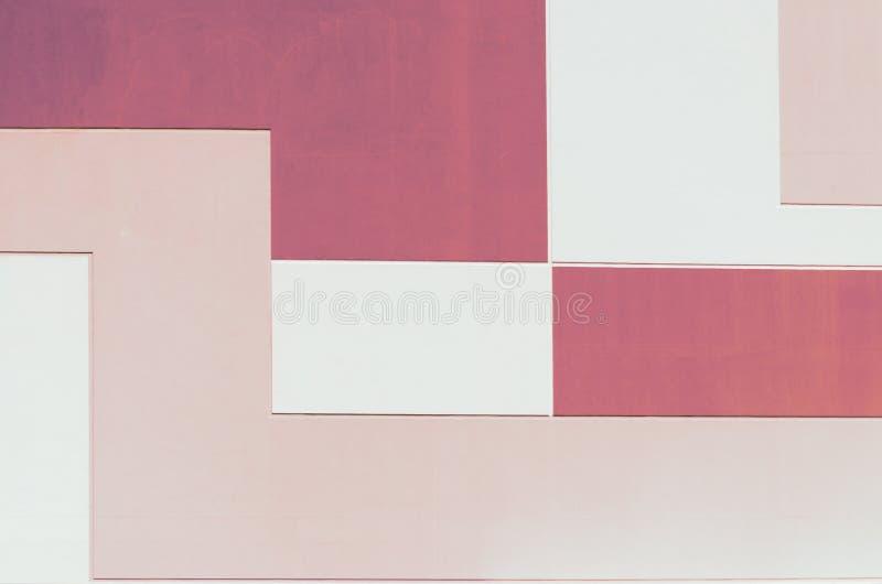 墙壁在淡色两种颜色,几何抽象背景,长方形形状中 免版税库存图片