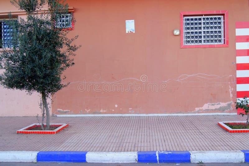 墙壁在马拉喀什毛罗茨 免版税库存照片