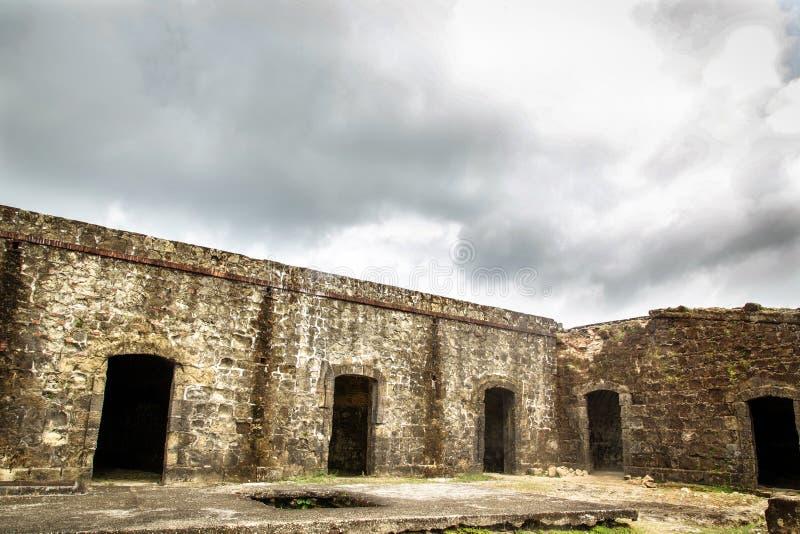墙壁在Portobelo 库存图片