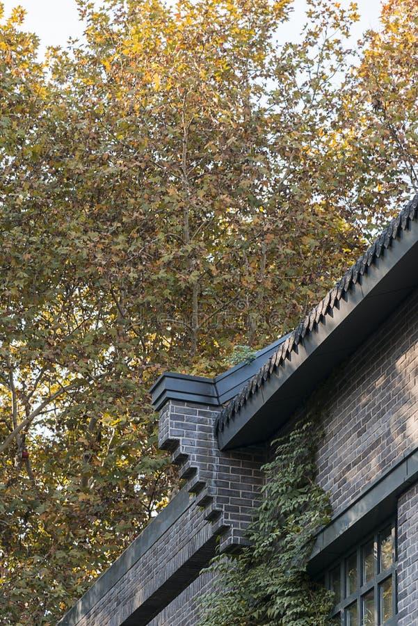 墙壁屋顶 库存图片