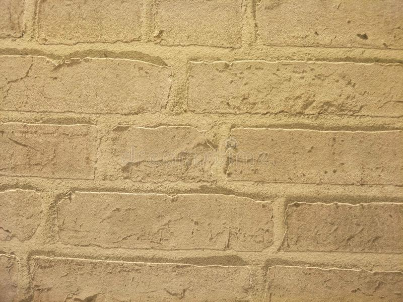 墙壁是黄色的 图库摄影