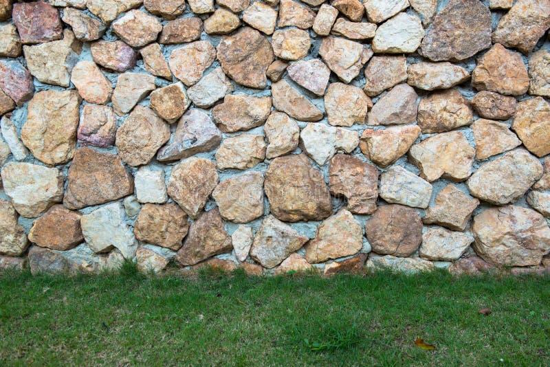 墙壁用大石头做,耐久 库存照片