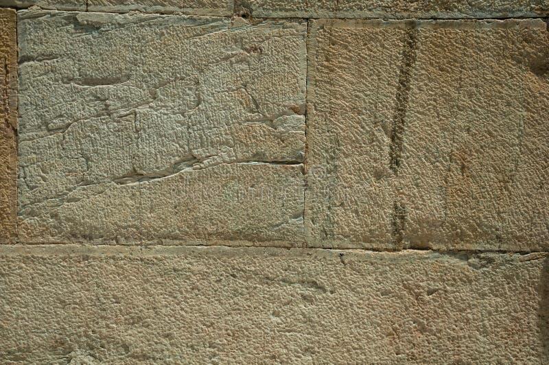 墙壁由大石砖做成 免版税库存图片