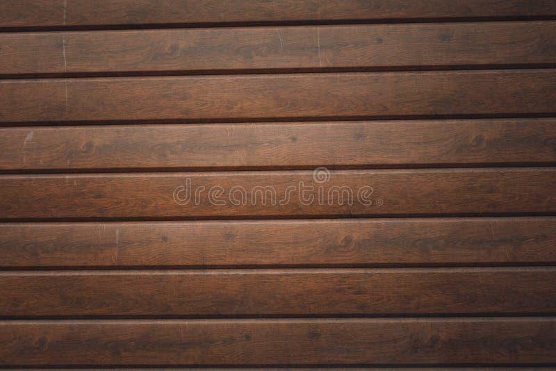 墙壁由木板条做成 木墙壁纹理 免版税库存图片