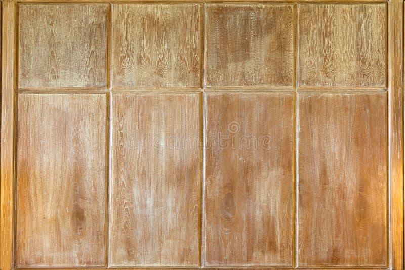 墙壁由木头制成 库存图片