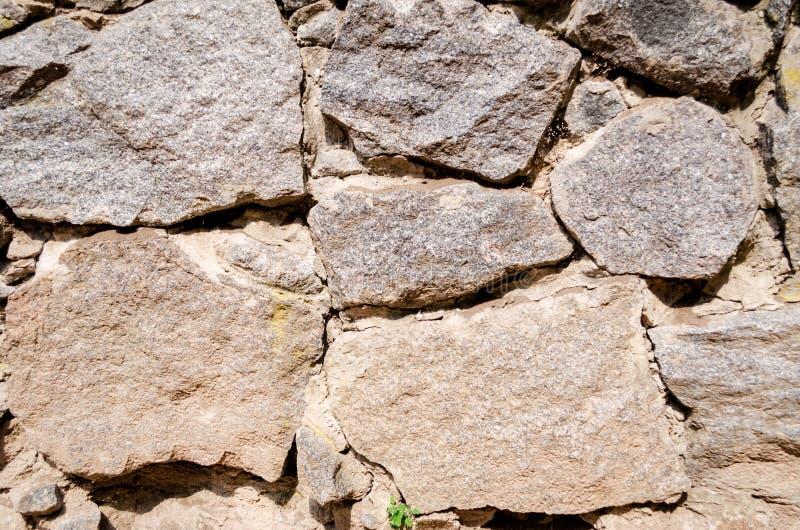 墙壁由石头制成 库存照片