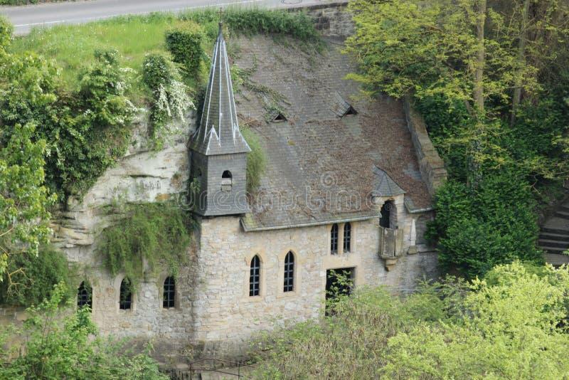墙壁的教会 免版税库存照片