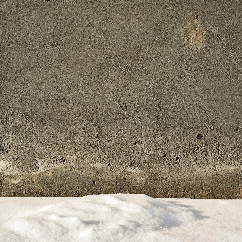 墙壁背景在冬天 库存图片