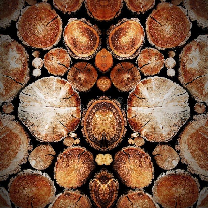 墙壁背景纹理木头褐色 免版税库存照片