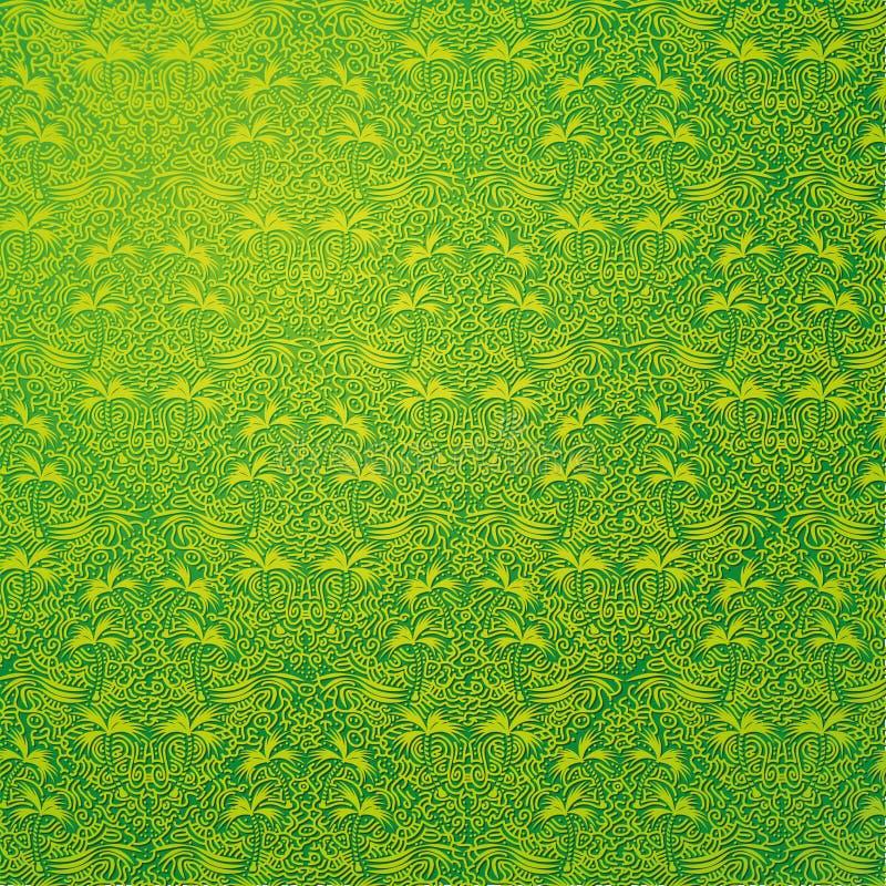 墙壁装饰绿色自然 库存例证