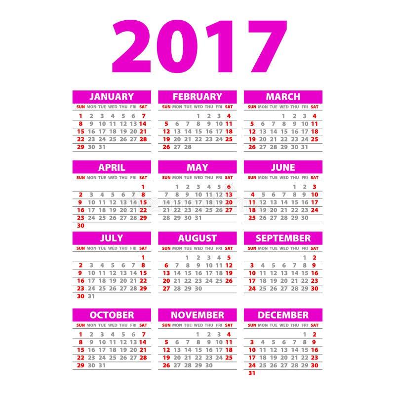 年墙壁计划者 计划您的与这2017墙壁年计划者的整个年 逐年挂历计划者模板 10个背景设计eps技术向量 库存例证