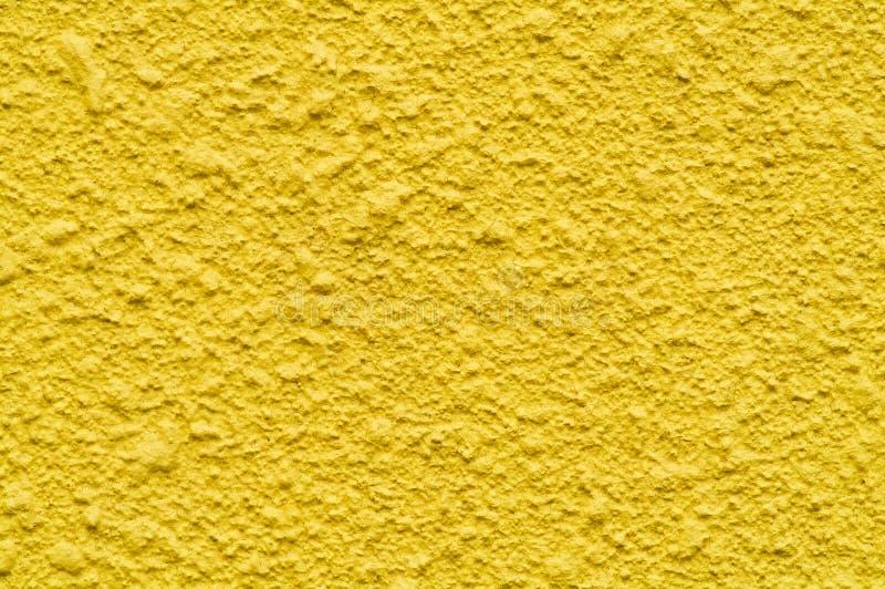 墙壁黄色 库存照片