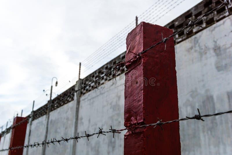 墙壁,篱芭,监狱,囚犯, 免版税图库摄影