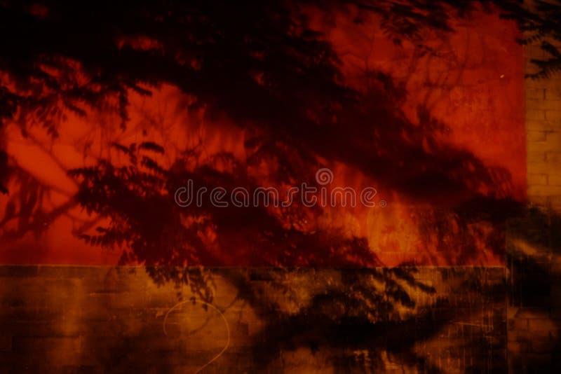 墙壁 红色墙壁 古老瓷 禁止的城市 Gugong 中国的古老红色墙壁 库存图片