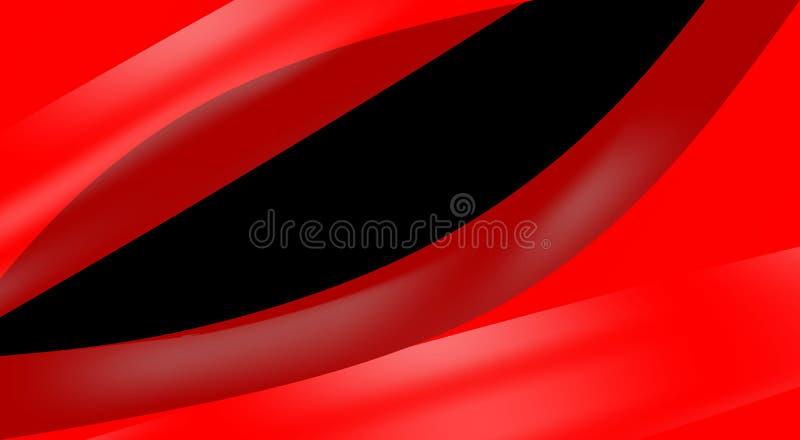 墙纸,抽象红色和黑波浪背景 向量例证