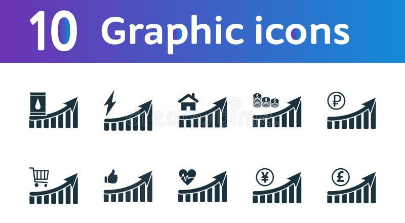 增加图表象集合 UI和UX 优质质量标志收藏 增量图表象设置了简单的元素用于a 向量例证
