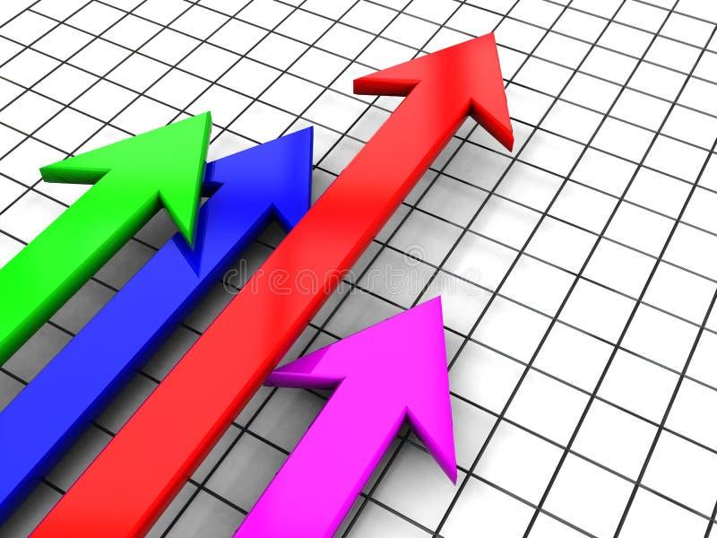 增加市场 向量例证