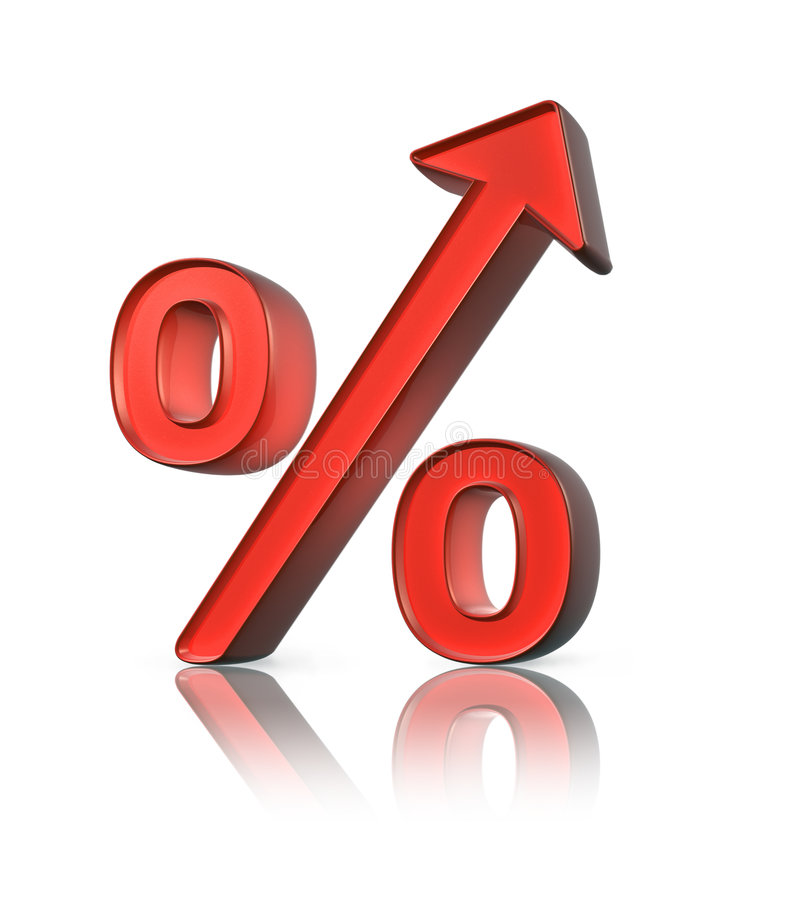 增加百分比 向量例证