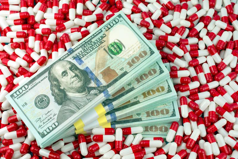 增加的药物价格 图库摄影