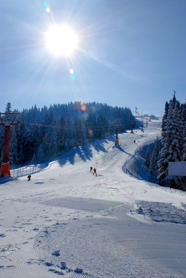 增强山滑雪 免版税库存图片