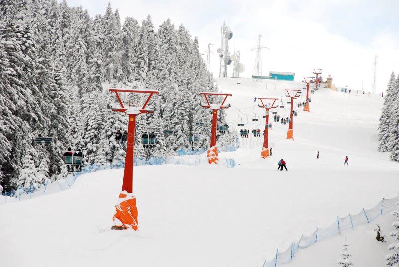 增强滑雪 库存照片