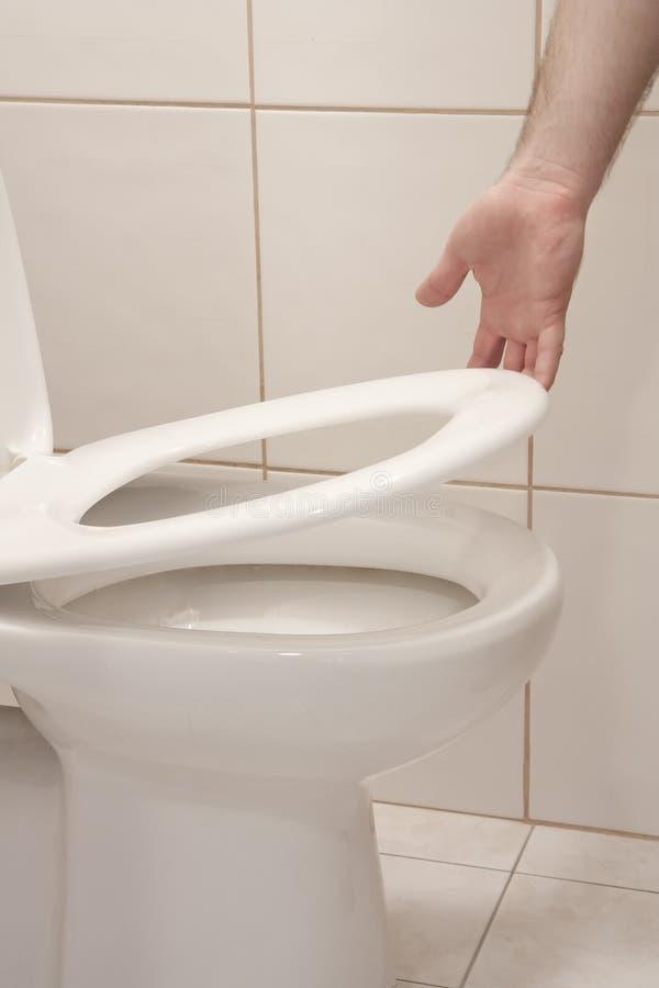 增强的位子洗手间  库存照片