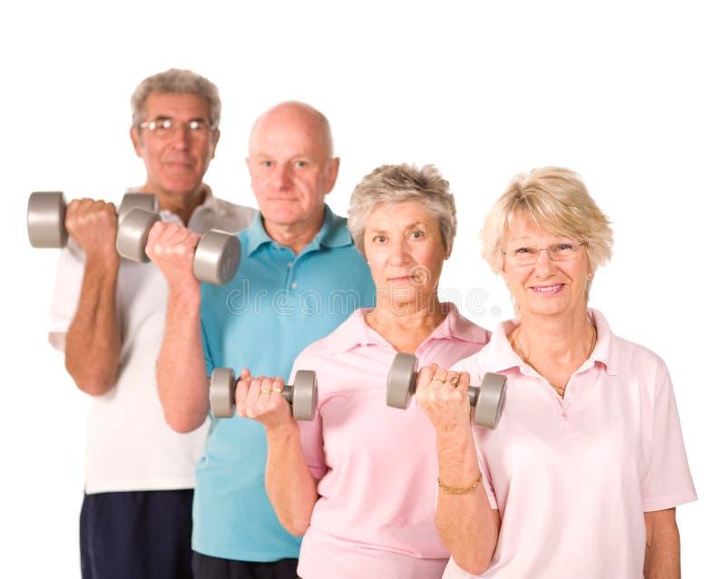 增强的老人前辈重量 免版税库存图片