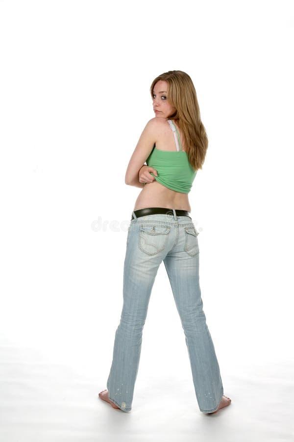 增强的衬衣妇女 库存图片