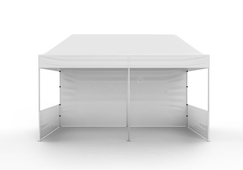 增进广告室外事件商业展览机盖帐篷机动性大门罩 嘲笑,模板 3d使例证被隔绝  向量例证
