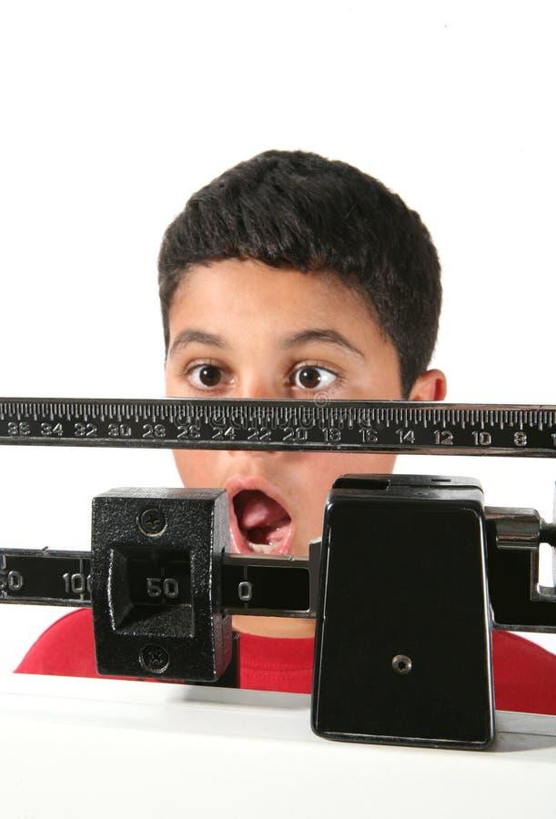增重的男孩 库存照片
