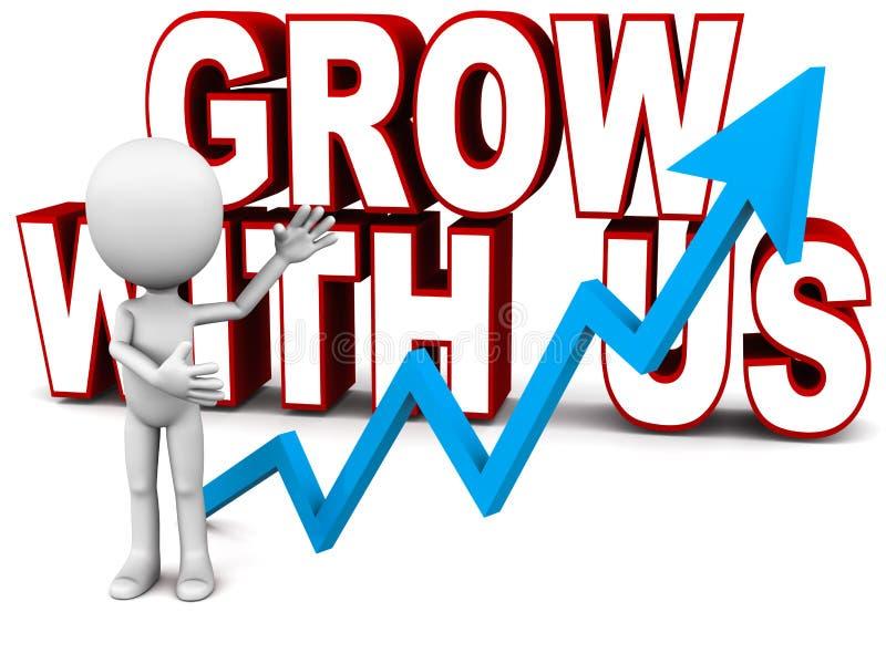 增长与我们 向量例证
