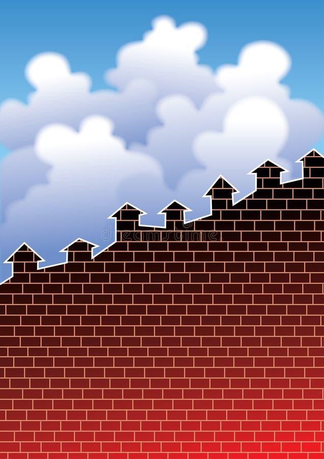 增长住房 向量例证