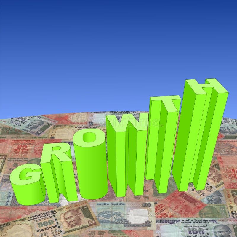 增长卢比 向量例证