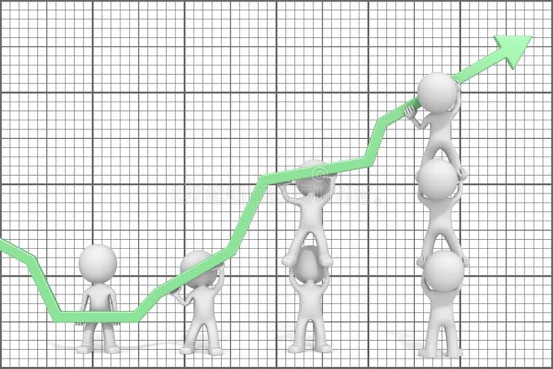 增长和成功 皇族释放例证