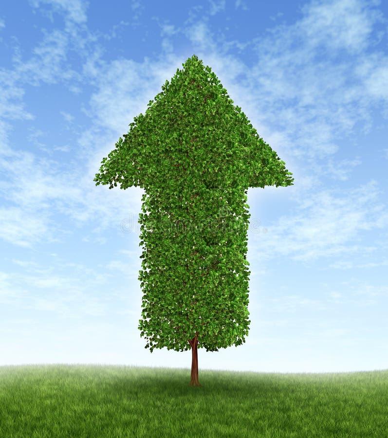 增长投资 库存例证