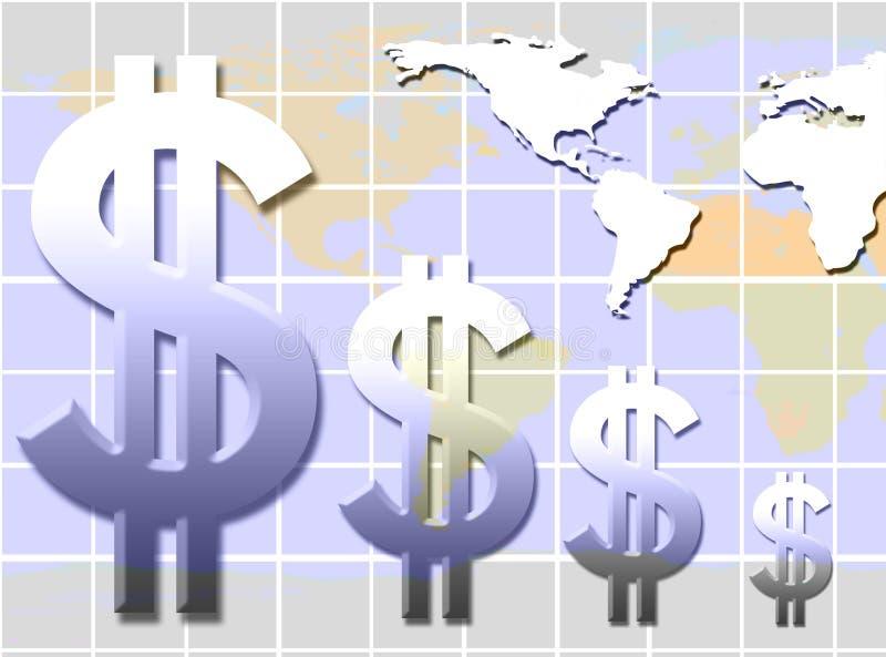 增长收入 皇族释放例证