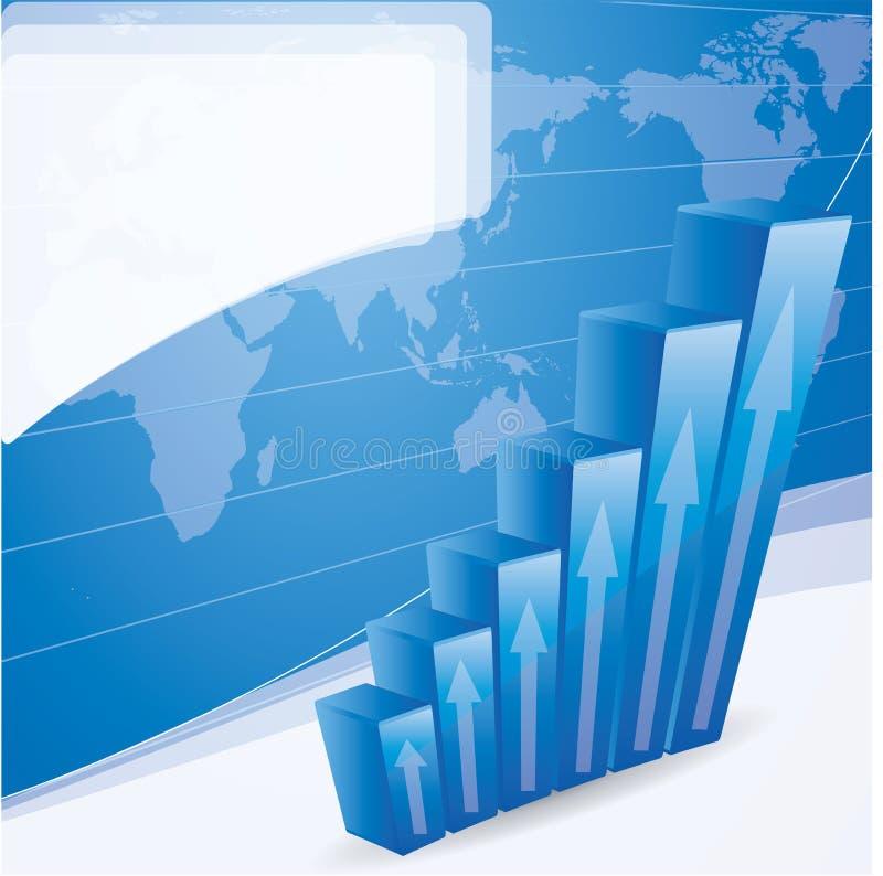 增长概念与绘制的摘要背景 向量例证