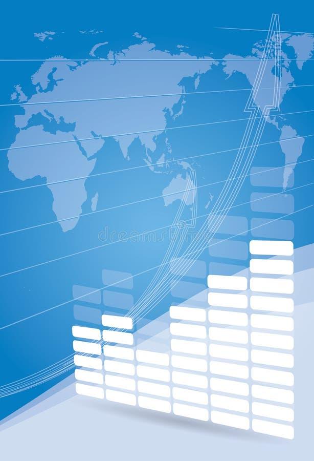 增长概念企业手册背景 皇族释放例证