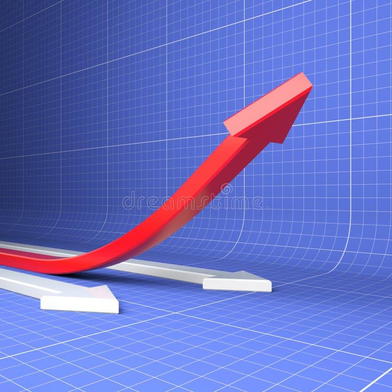 增长生产率 皇族释放例证