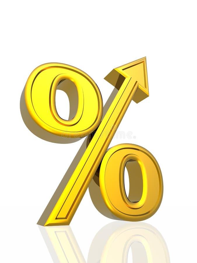 增长百分比 库存例证