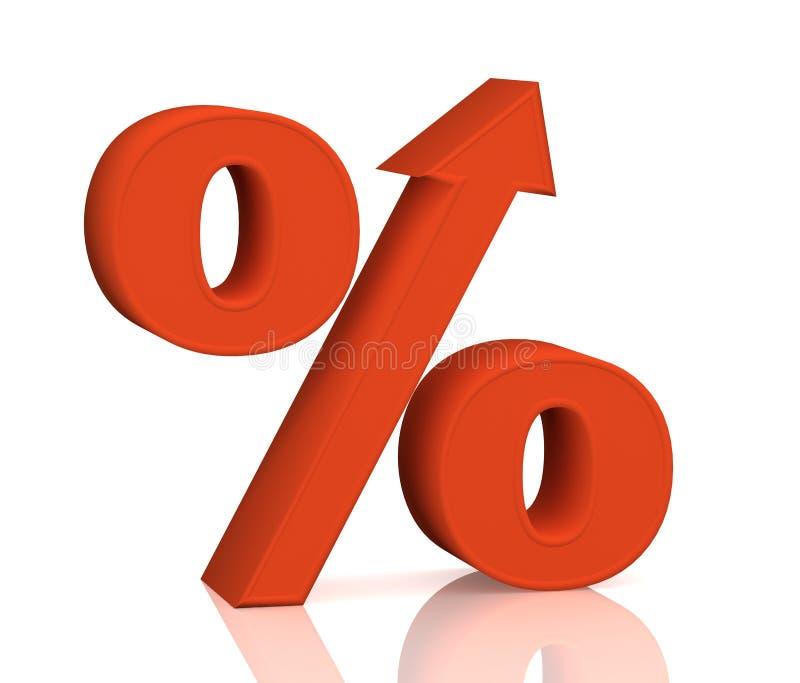 增长百分比 皇族释放例证