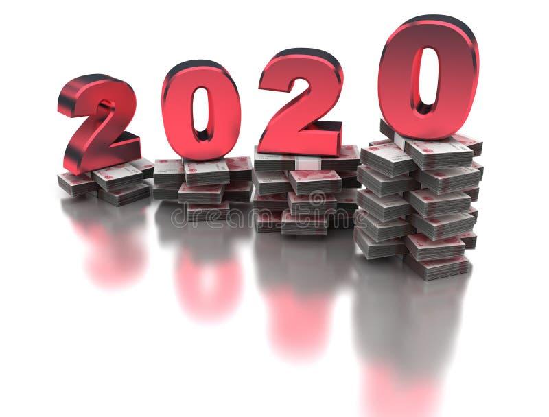 增长的中国经济2020年 向量例证
