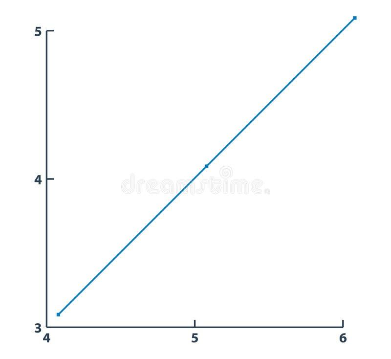 增长的图表线象 向量例证