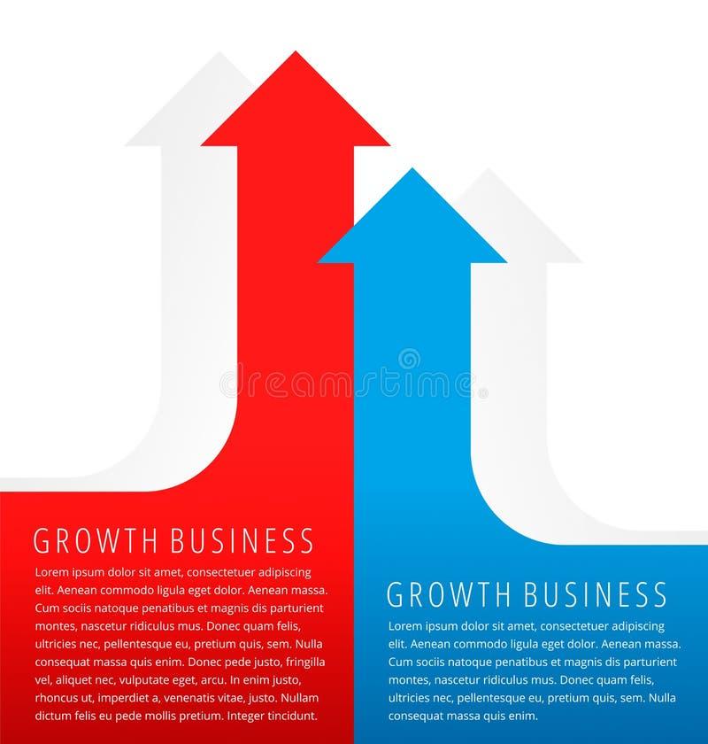 增长的图表 向量例证